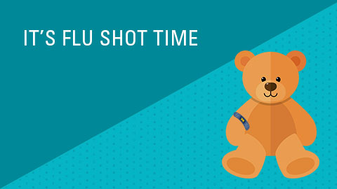 Pediatric Flu Shot Teddy Bear graphic