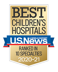 2020 US News and World Report badge Ranked in 10 specialties