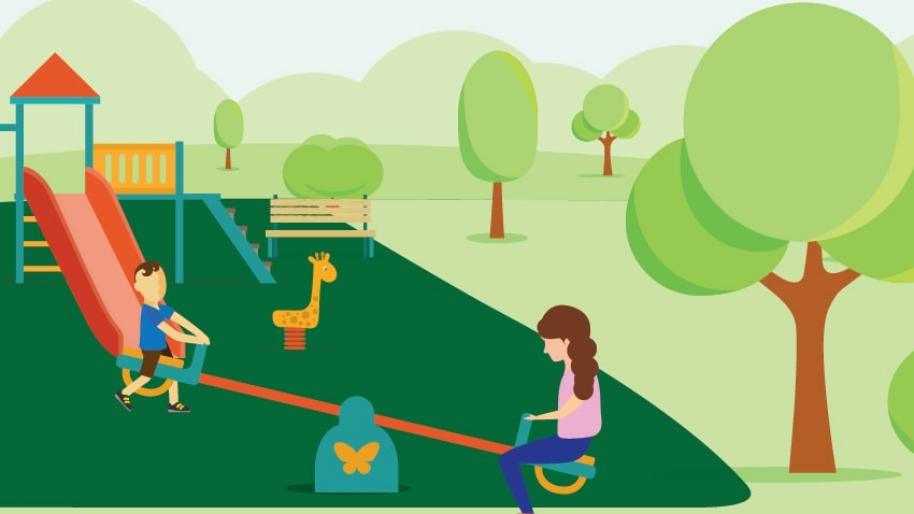 Graphic of children on the playground
