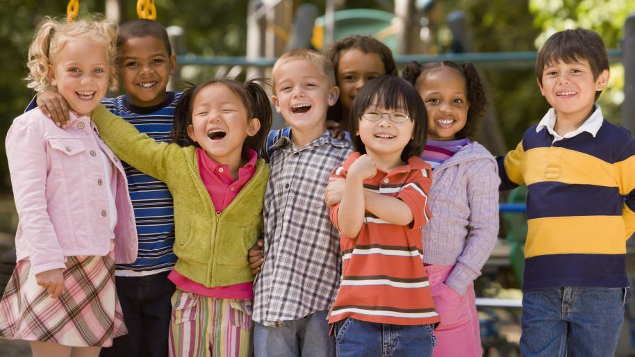 Image of diverse group of children