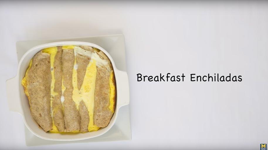 Learn how to make breakfast enchiladas