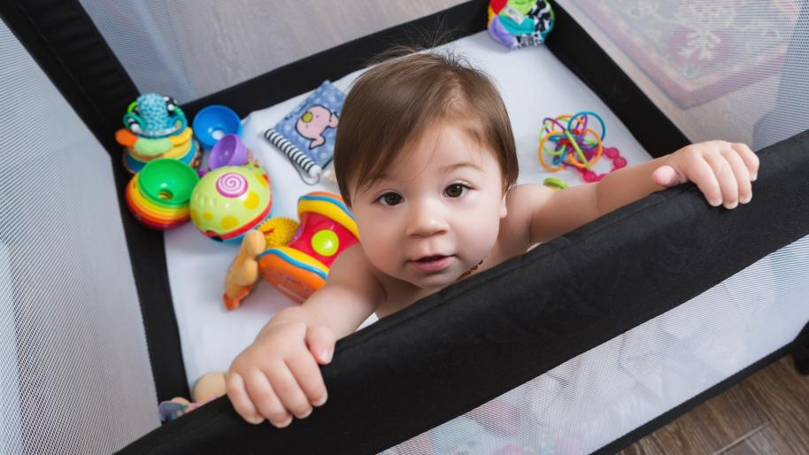 Baby in a playpen