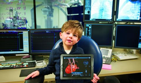 A young patient at the U-M Congenital Heart Center