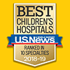 2018-2019 US News and World Report Best Children's Hospital Badge