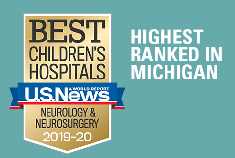 Mott Children's Pediatric Neurology & Neurosurgery program has been ranked #1 in Michigan and 15th in the nation by US News and World Report 2019