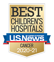 Pediatric Cancer U.S. News and World Report Badge 2020-2021