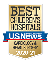 Pediatric Cardiology and Heart Surgery U.S. News and World Report Badge 2020-2021