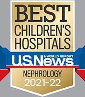 Pediatric Nephrology U.S. News and World Report Badge 2021-2022