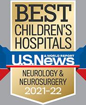Pediatric Neurology and Neurosurgery U.S. News and World Report Badge 2021-2022