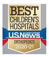 Pediatric Orthopedics U.S. News and World Report Badge 2020-2021