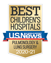 Pediatric Pulmonology and Lung Surgery U.S. News and World Report Badge 2020-2021