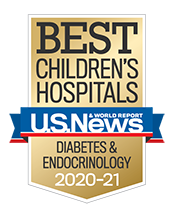 Diabetes and Endocrinology U.S. News and World Report Badge 2020-2021