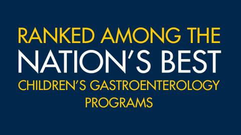 Ranked among the nation's best children's gastroenterology programs