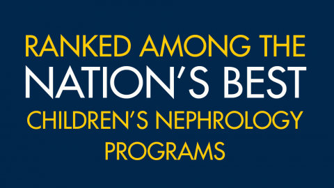 Ranked among the nation's best children's nephrology programs