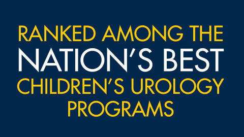 Ranked among the nation's best children's urology programs