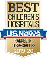 2018 US News and World Report badge Ranked in 10 specialties
