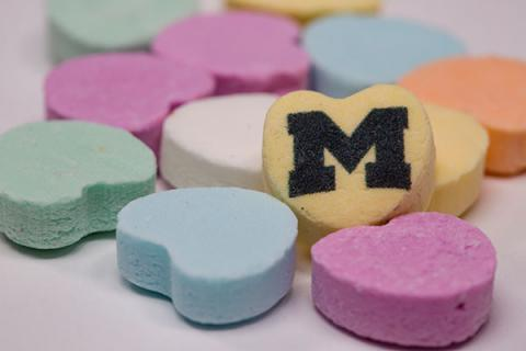 Block M Candy Hearts