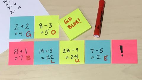 Sticky Math decoder sheet