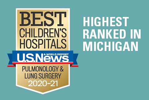 Mott Children's Pediatric Pulmonology program has been ranked #1 in Michigan and 23rd in the nation by US News & World Report for 2019-20