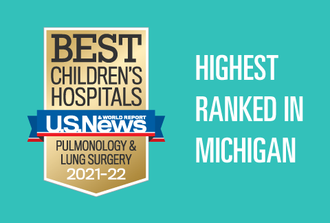 Mott Children's Pediatric Pulmonology program has been ranked #1 in Michigan and 17th in the nation by US News & World Report for 21-22