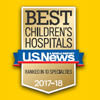 2017-2018 Best Children's Hospital Badge